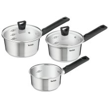 TEFAL SIMPLEO STAINLESS STEEL 3 PIECE COOKWARE SET