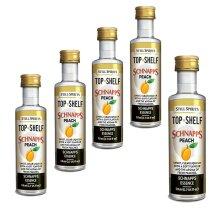 5x Still Spirits Top Shelf Peach Schnapps Essence Flavours 1.125L