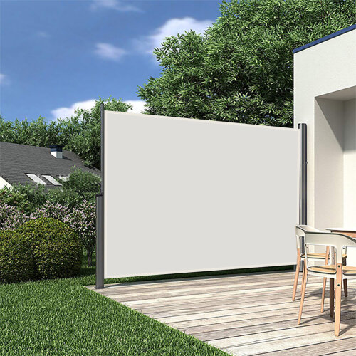 Outdoor Retractable Side Awning Garden Patio Privacy Screen Windbreak Sunshade