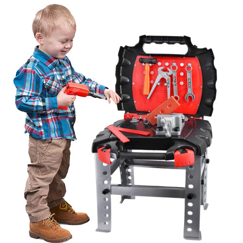 2 in 1 Kids Portable Tool Bench & Carry Case