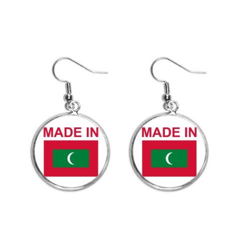 Made In Maldives Country Love Ear Dangle Silver Drop Earring Jewelry Woman