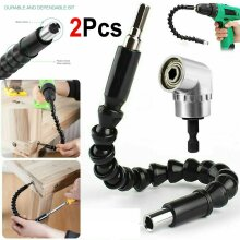 2pcs Right Angle Drill and Flexible Shaft Bits Extension Screwdriver