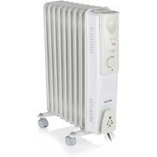 Warmlite WL43004YW Oil Filled Radiator, Adjustable Thermostat, 2000W