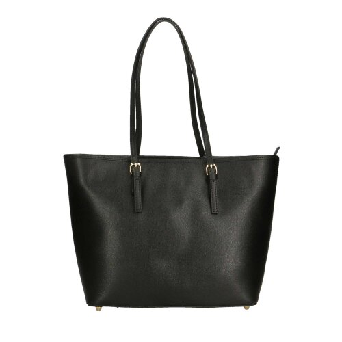 (Black) 30x28x14 cm - Tote Leather bag - Made in Italy