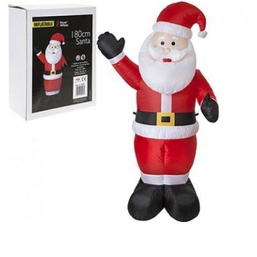 180cm Inflatable Santa - Snowman Christmas Large Outdoor Airblown Xmas -  inflatable santa snowman christmas large outdoor airblown xmas decoration