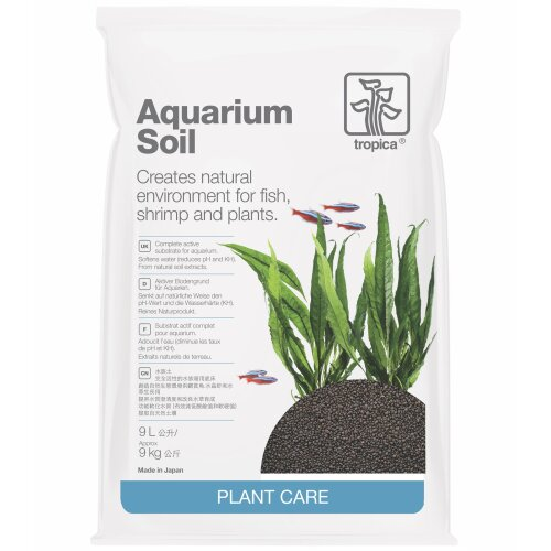Tropica Aquarium Soil Complete Bottom Layer, Growth, Easy For Planting, 9 Litres