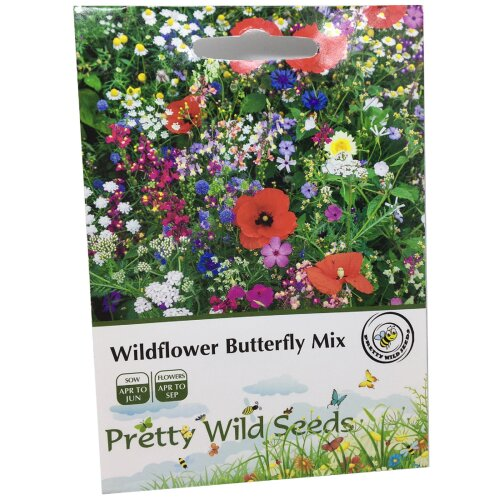 1 Packet UK Wild Flower Seed Mix Annual & Perennial Meadow Plants Attracts Bees & Butterfly (10g) Wildflower Seeds