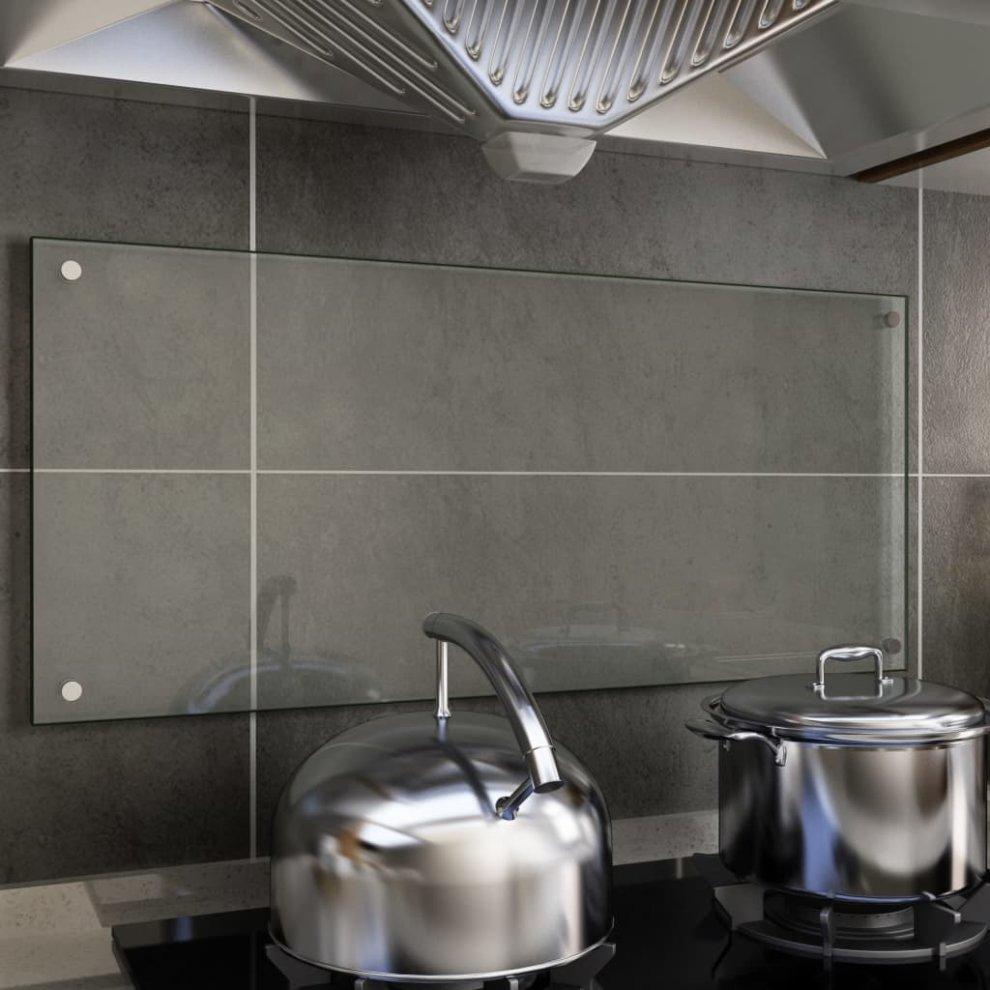 Vidaxl Kitchen Backsplash Transparent 90x40cm Tempered Glass Kitchen Back Wall On Onbuy