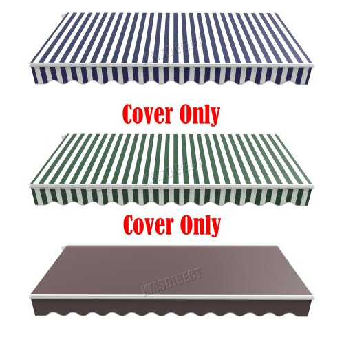BIRCHTREE Garden Patio Manual Awning Canopy Sun Shade Replacement Cover Only