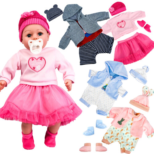 "The Magic Toy Shop 18"" Baby Doll Clothes Boy & Girl Set Of Two"