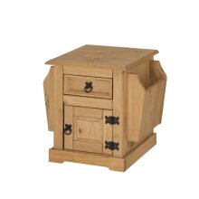 Corona Magazine Rack Lamp Table Solid Wood Pine Furniture