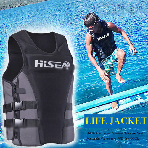 Adult Life Jacket Neoprene Kayak Ski Buoyancy Aid Vest Sailing Watersports
