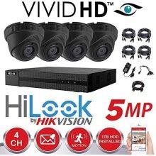 Hikvision CCTV HD 4K 5MP Night Vision Outdoor DVR (Grey) (1TB (1000GB)