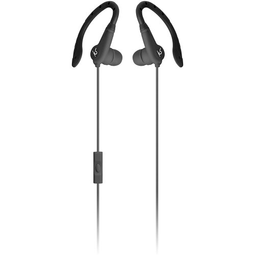 KitSound Exert Wired Sports In-Ear Earphones with Microphone - Black