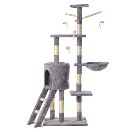 (Grey) Cat  Tree Scratching Cat Climbing Post ladder