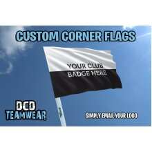 4 Personalised Multicolour Corner Flags and Poles