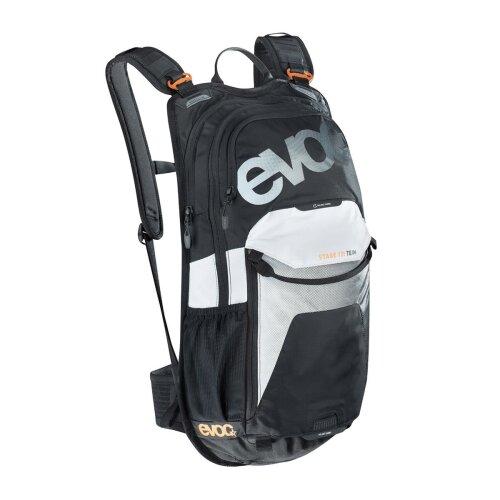 EVOC STAGE 12L PERFORMANCE BACKPACK 2019: TEAM BLACK/WHITE/NEON ORANGE 12 LITRE