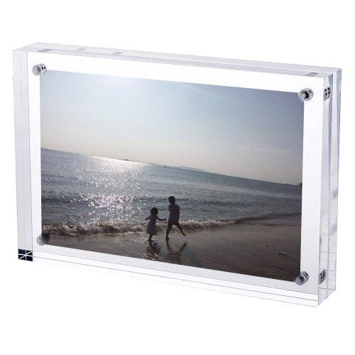 TRIXES Magnetic Acrylic Photo Frame 6 x 4in Double sided Display 2cm thickness