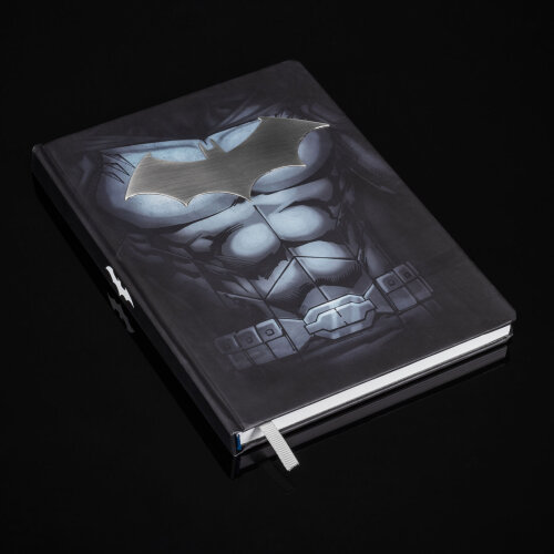 Batman Metal Notebook - A5 200 Pages Lined Bound Jotter Note Pad DC Comics