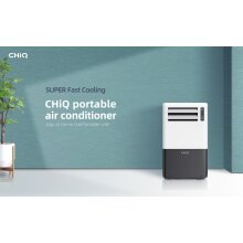 CHiQ Portable Air Conditioner 9000 BTU -  4 in 1 Modes (Cooling, Fan, Dehumidifier, Sleep Timer) - CPC09PAP01