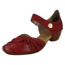 Ladies Rieker Block Heel Casual Shoes 43722