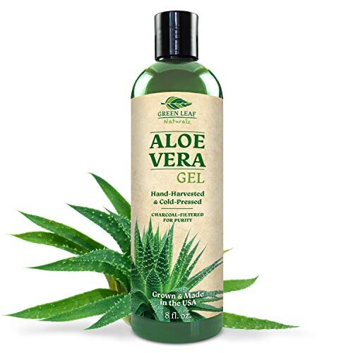 Pure Aloe Vera Gel from Fresh Cut Aloe Leaves for Natural Skin Care - Thin Aloe Gel Formula for Skin, Face, Hair, Daily Moisturizer, Aftershave Lotion