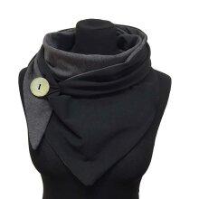 Winter Women Scarf Soild Dot Printing Button Wrap Soft Casual Warm Scarves Shawls