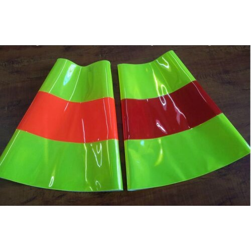 (As Seen on Image) Reflective Road Cone, PVC Traffic Safety, Protective Warning Sleeve