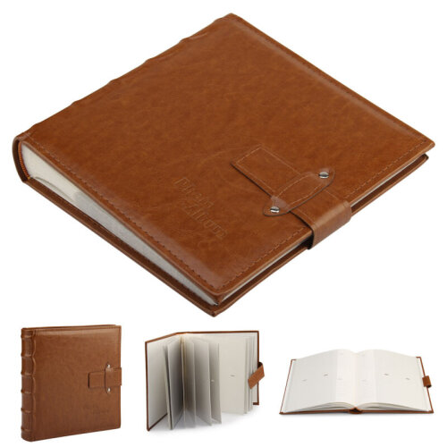 """6x4""""  Vintage Leather Photo Album Cover Accommodate 200 Photos With"""