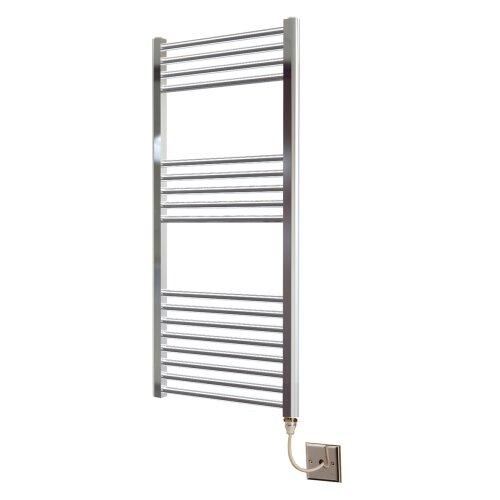 Greened House 300mm wide x 1200mm high Chrome Flat Electric Heated Towel Rail Designer Straight Towel radiator