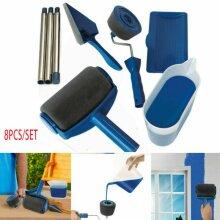 8 Pcs Paint Roller Brush kit Multifunctional Household Use Wall Decorative
