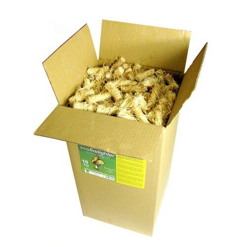 Firelighters 10 kg Natural Firelighters Kindling Cardboard Box
