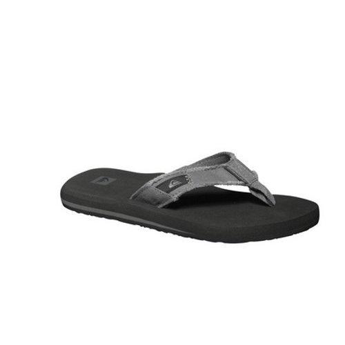 (UK 7) Quiksilver Monkey Abyss Flip Flops - Grey / Black / Brown