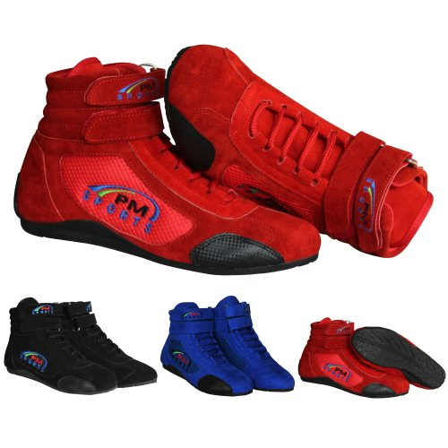 Adult Karting Boots Race Rally Track Boots with Suede & Mesh Racewear All Colours