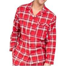 Cyberjammies Frankie 6639 Men's Red Check Cotton Pyjama Top