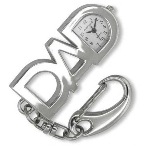 Park Lane Silver Tone DAD Keychain Watch PLKR25
