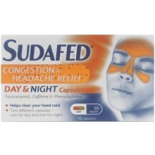 Sudafed Congestion & Headache Day Night Relief 16 Capsules