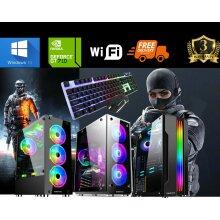 GAMING PC Computer i5 16GB 1TB 256GB SSD Win10 GT710