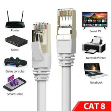 CAT8 Ethernet Cable Super Speed SSTP 40Gbps LAN Network Patch Lead