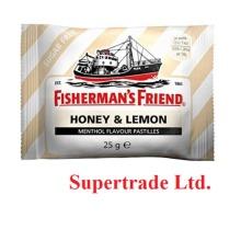 12 X Fisherman's Friend Honey & Lemon Sugar Free Lozenges With Sweeteners - 25g