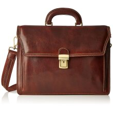 39x28x14 cm -Leather Briefcase - Made in Italy