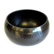 Lrg Black Beaten Bowl - 18cm