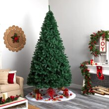 Artificial 7ft Xmas Trees Metal Stand Christmas