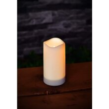 Elegant Style Solar Powered LED Candle Flickering Solar LED Tea Lights Lamp 15cm