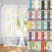 One Pair Plain Voile Net Curtain Sheer Panels 226cm