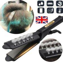 Ceramic Tourmaline Ionic Flat Iron Hair Straightener, Steam Electric Splint Hair Straighteners