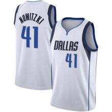 Dallas Mavericks Dirk Nowitzki Loose Basketball Jersey Sports Shirts Men's Quick-drying Basketball Uniform Tops