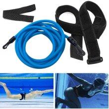 Fun Gift Swim Training Belts,Swim Training Leash,Swim Tether Stationary Swimming,Swim Harness Static Swimming Belt,Swim Bungee Cords Resistance Bands