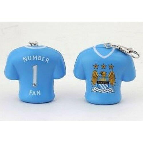 2 x Man City FC Stress Keyrings - Brand New - Ideal Gift