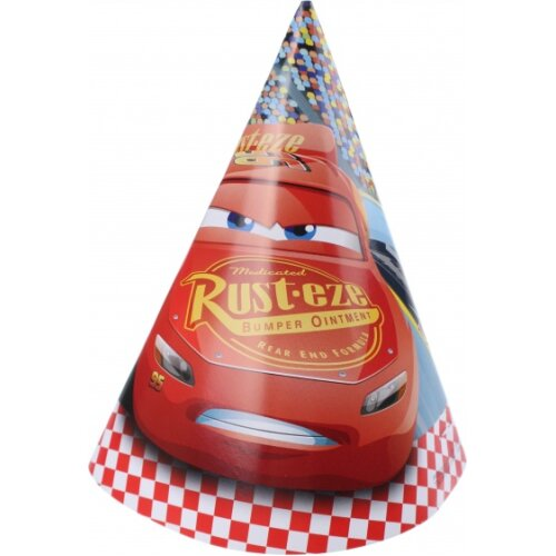 party hats Cars 3 red 6 pieces